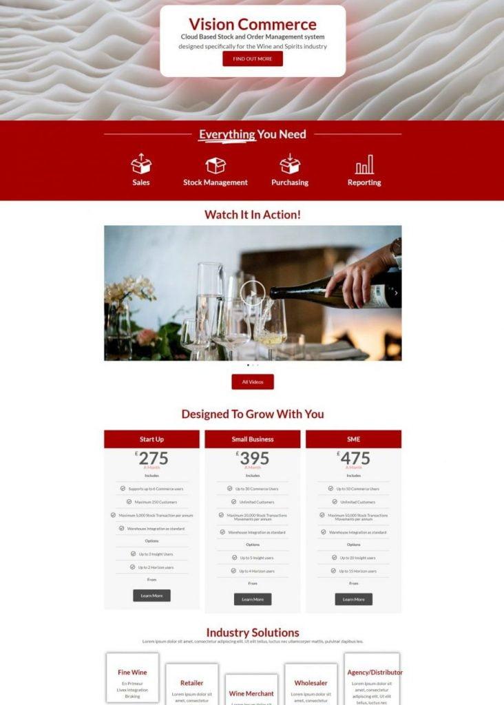 Vision Commerce Website