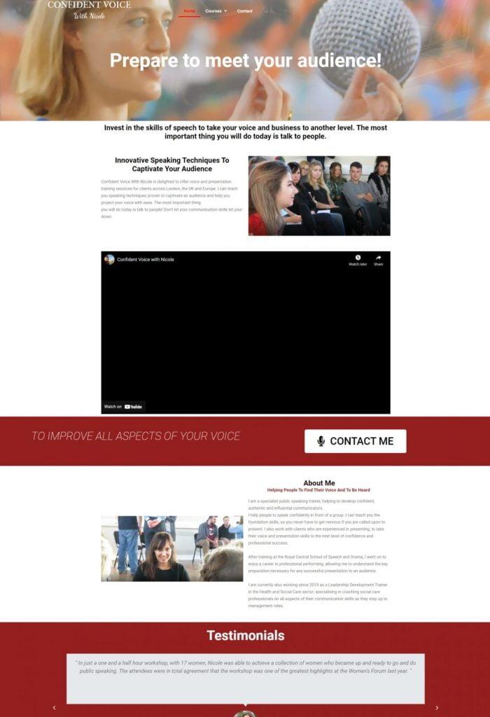 Confident Voice Website