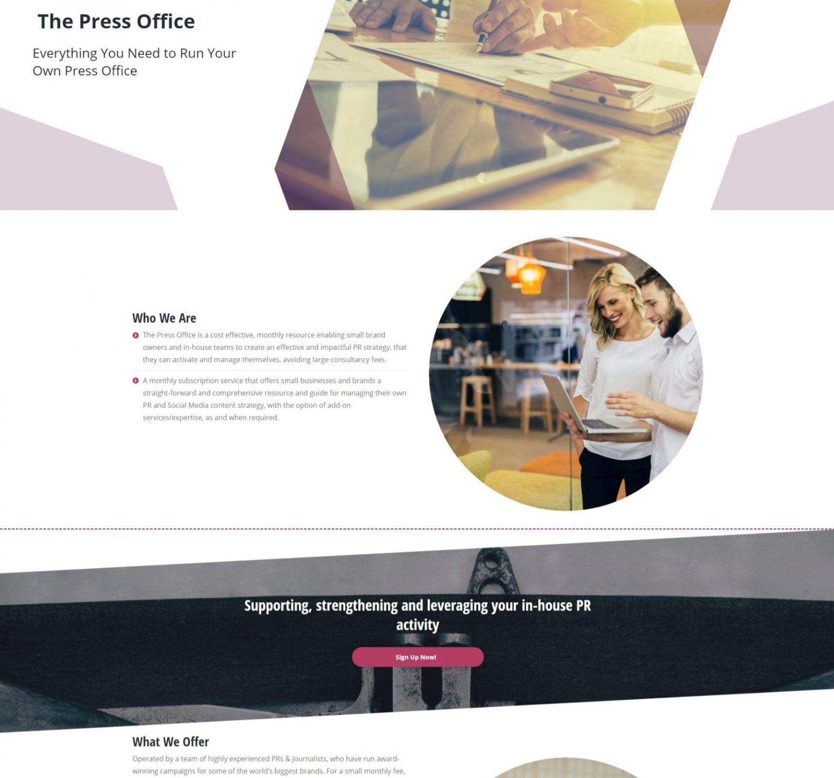 The Press Office Website